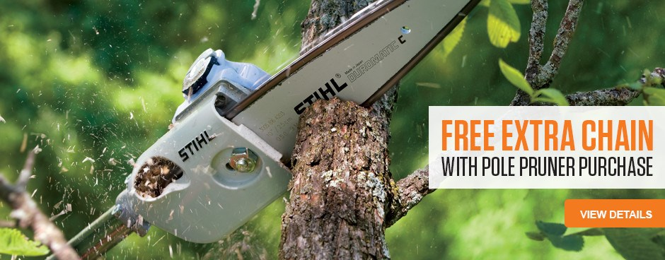 Free Extra Chain with Pole Pruner purchase!